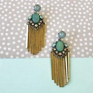 Fringe Tassel Gold Earrings